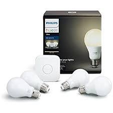 philips hue white smart bulb starter kit 4 a19 bulbs