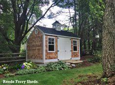Reeds Ferry Sheds Massachusetts by 12 U0027x20 U0027 Beaded Vinyl Hip Roof Garden Shed With Cedar Shake Roof