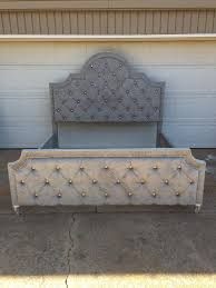 Diamond Tufted Headboard With Crystal Buttons by Tufting A Headboard The Easy Way Next Flip The Headboard Over