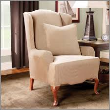 Oversized Wingback Chair Slipcovers by Wing Chair Slipcovers With Separate Cushion Cover Chair Home