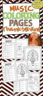 Music Coloring Pages Thanksgiving