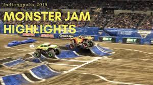 100 Monster Trucks Indianapolis Jam Highlights 2019