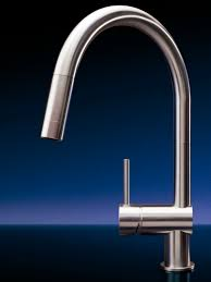 Mgs Faucets Vela D by Stainless Steel Mixer Tap Kitchen 1 Hole With Pull Out Spray