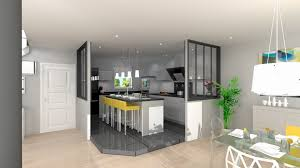 separation cuisine sejour meuble separation cuisine salon ide deco cuisine ouverte
