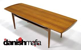 mid century danish modern teak smile sofa coffee table mafia plans