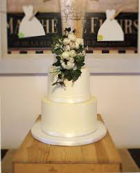 A Rustic Buttercream 3 Tier Bridal Shower Cake With Silk Flowers