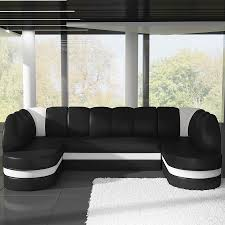 canape angle noir convertible canap noir et blanc design canap duangle panoramique