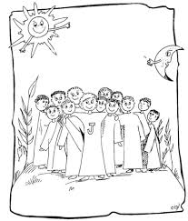 Clipart Jesus Calling His Disciples For And Coloring Page