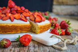 gesunder erdbeer bananen kuchen ohne weissen zucker