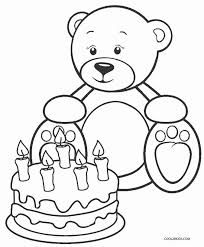 Teddy Bear Printable Coloring Pages