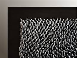 Black And White Wall Sculpture 3D Organic Texture Art