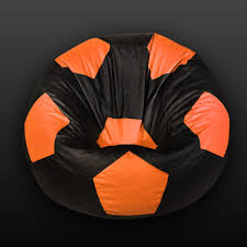 100 Foot Cozy Ball Bean Bag Orange Black With Beans Bean Bags