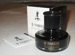Parker Penman Writing Ink In Bottle 50ml Ebony Full With