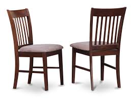 Norfolk Dining Room Chair Mahogany Finish Set Of 2 EBay For Sale