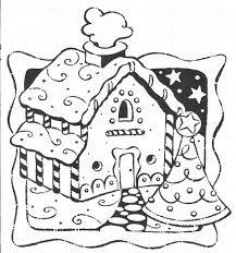 Gingerbread House Coloring Pages To Print AZ