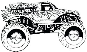 Monster Truck Coloring Pages Printable Free Sheets For Kids Tonka