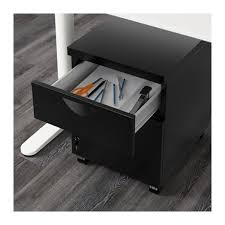 Ikea Erik File Cabinet Lock by Erik Drawer Unit W 3 Drawers On Castors Black Ikea