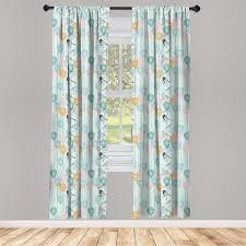 gardine fensterbehandlungen 2 panel set für wohnzimmer schlafzimmer dekor abakuhaus frühling blumen und vögel nostalgie kaufen otto