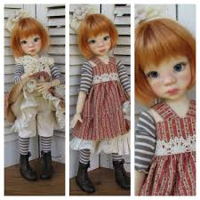 16 BJD Doll Cherry Smile Girl Unpainted Body Bare Doll Eyes