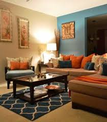 Rugs Coffee Table Pillows Teal Orange Living Room Behr Paint 730c