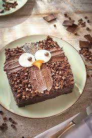 How to make an owl cake Easy decoration idea for an owl birthday cake