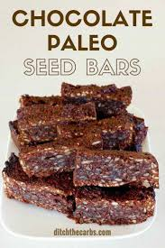 Are Pumpkin Seeds Fattening by Chocolate Paleo Seed Bars Absolutely Perfect For Lunches