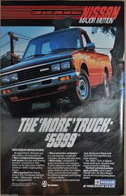 100 1985 Nissan Truck Pickup Advertisement Datsun Regular Bed Pickup