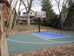 Backyard Basketball Court | Edkohler | Flickr Multisport Backyard Court System Synlawn Photo Gallery Basketball Surfaces Las Vegas Nv Bench At Base Of Court Outside Transformation In The Name Sketball How To Make A Diy Triyaecom Asphalt In Various Design Home Southern California Dimeions Design And Ideas House Bar And Grill College Park Half With Hill