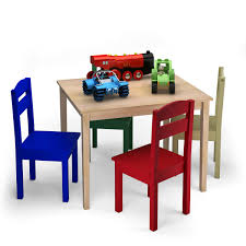 Costway: Costway Kids 5 Piece Table Chair Set Pine Wood Multicolor Children  Play Room Furniture | Rakuten.com Kids Study Table Chairs Details About Kids Table Chair Set Multi Color Toddler Activity Plastic Boys Girls Square Play Goplus 5 Piece Pine Wood Children Room Fniture Natural New Hw55008na Schon Childrens And Enchanting The Whisper Nick Jr Dora The Explorer Storage And Advantages Of Purchasing Wooden Tables Chairs For Buy Latest Sets At Best Price Online In Asunflower With Adjustable Legs As Ding Simple Her Tool Belt Solid Study Desk Chalkboard Game