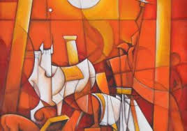Indian Abstract Paintings On Canvas Chennai Gallery