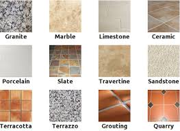 types of flooring tiles kitchen floor types gallery of