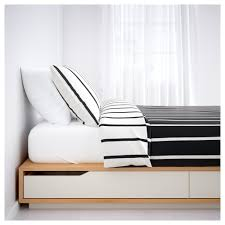 Ikea Mandal Headboard Instructions by Mandal Bed Frame With Storage 160x202 Cm Ikea