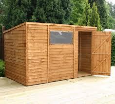 6 X 6 Wood Storage Shed by 10 U0027 X 6 U0027 Wooden Overlap Clad Pent Shed Amazon Co Uk Garden