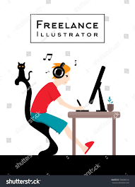 Freelance Illustrator Design Character Dude Work Stock Vector ... Freelance Programmer Coder Character Dude Work Stock Vector 100 Design Jobs Working From Home Freelancers News Topics Homefreelanceold Computer Books Objects On Set Flat Elements Office 207426172 Stunning Graphic Designer Photos Decorating Glamorous Wonderful Fresh At Best 3 22478 And In Workplace Fniture Concept Images Web