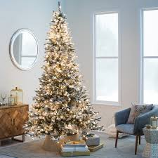 Pre Lit Flocked Alaskan Christmas Tree by 9 Ft Flocked Alaskan Full Pre Lit Christmastree Hayneedle