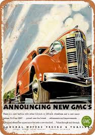 100 1937 Gmc Truck Amazoncom WallColor 10 X 14 Metal Sign GMC S