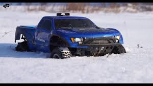 100 Truck Paddle Tires TRAXXAS FORD RAPTOR WITH PADDLE TIRES IN SNOW YouTube