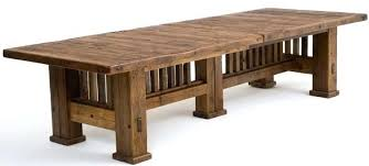 Mission Style Dining Table Reclaimed Room