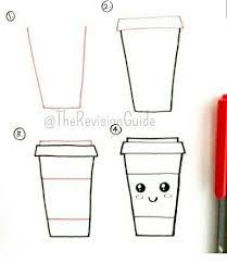 How To Draw A Kawaii Coffee Cup