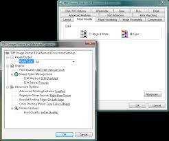 TIFF Image Printer Document Properties