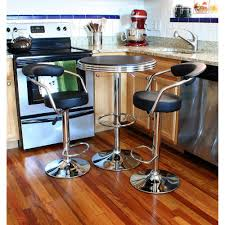 100 Bar Height Table And Chairs Walmart AmeriHome Retro Style 37 In Adjustable Set In