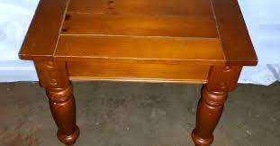 Rustic Wood Plank End Table OKC