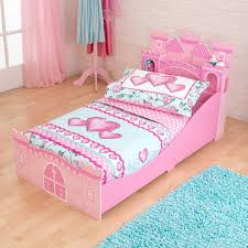amazon com girls pink princess castle toddler childrens bed