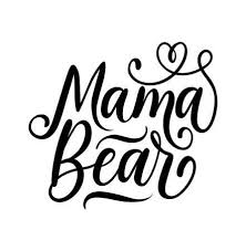 Mama Bear Lettering Illustration