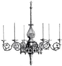 Vintage Gothic Chandelier Image This One Was Scanned From An Antique Iexl2y Clipart