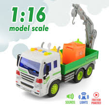 100 Sanitation Truck Durable Children Garbage Toy Car Model With