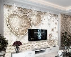 beibehang costom tapeten romantische stereo herz wandbild schlafzimmer 3d wohnzimmer sofa tv wand 3d tapete papier peint