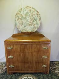 Tiger Oak Dresser Beveled Mirror by Restored Antique Waterfall Dresser With Mirror Art Deco