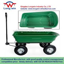 NEW HEAVY DUTY GARDEN TROLLEY WHEEL BARROW TIPPER TIPPING CART DUMP TRUCK