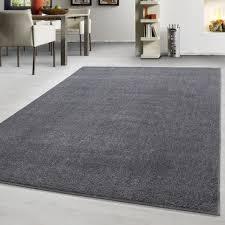 teppich modern design teppich einfarbig kurzflor teppich uni color hellgrau